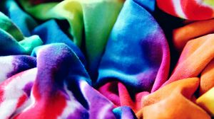 Preview wallpaper multicolored, fabric, rainbow