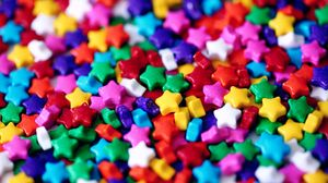 Preview wallpaper multicolored, star, sweets