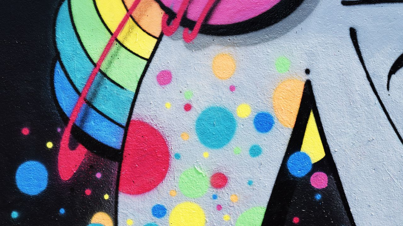 Wallpaper graffiti, wall, paint, colorful