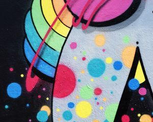 Preview wallpaper graffiti, wall, paint, colorful