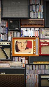 Preview wallpaper music, retro, vinyl, players, portrait