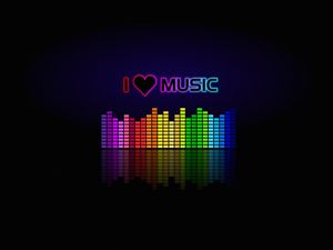 Preview wallpaper music, spectrum, equalizer, inscription, love