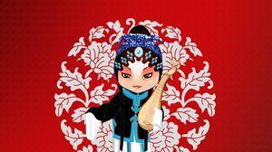 Preview wallpaper musical instrument, beijing opera, costumes, patterns