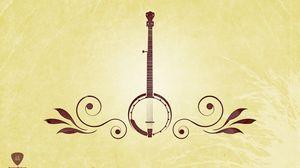 Preview wallpaper musical instrument, guitar, green, brown