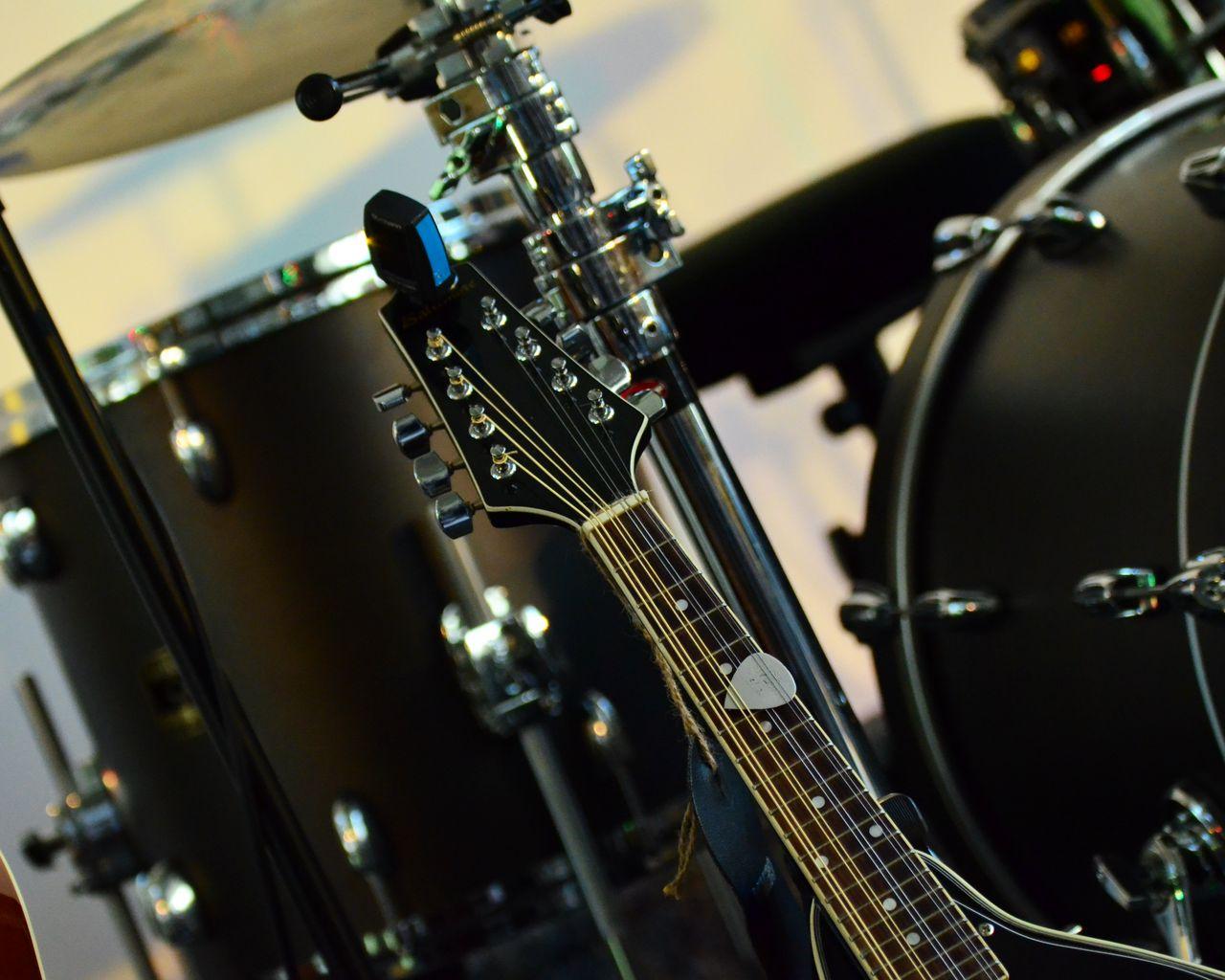 1280x1024 Wallpaper musical instrument, music, percussion, guitar