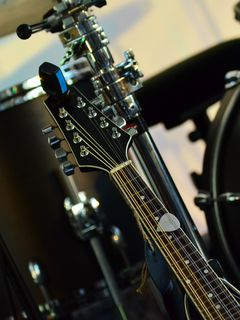 240x320 Wallpaper musical instrument, music, percussion, guitar