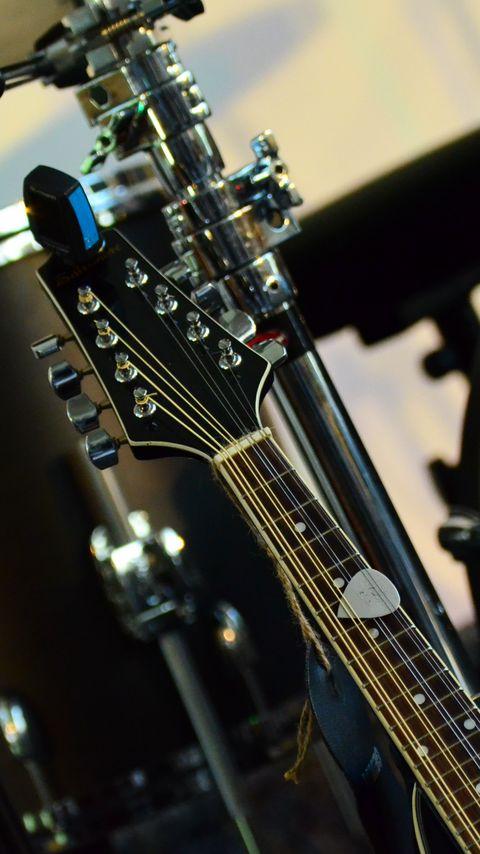 480x854 Wallpaper musical instrument, music, percussion, guitar