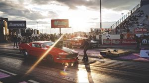 Preview wallpaper mustang, race, ford, drag