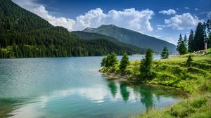 Preview wallpaper nature, lake, mountains, forest