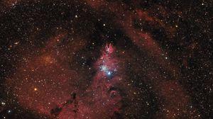 Preview wallpaper nebula, galaxy, stars, space, glow, universe