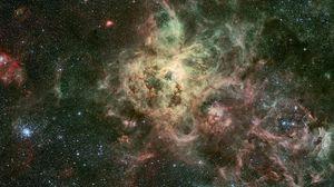Preview wallpaper nebula, galaxy, stars, universe, spots, flashes