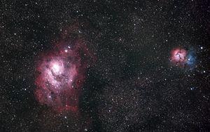 Preview wallpaper nebula, glow, stars, space, glare