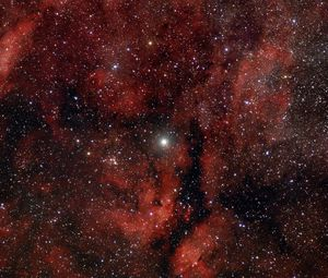 Preview wallpaper nebula, glow, stars, red, space