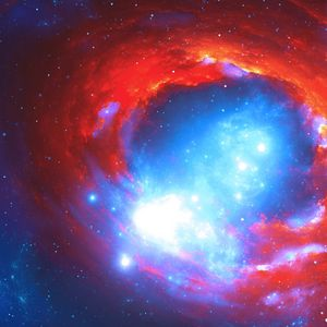 Preview wallpaper nebula, space, flare, glow, stars