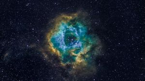 Preview wallpaper nebula, stars, galaxy, space, universe, glow