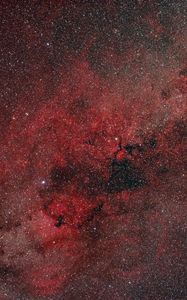 Preview wallpaper nebula, stars, glare, red, space