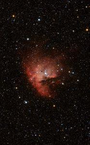 Preview wallpaper nebula, stars, glare, space, red, dark