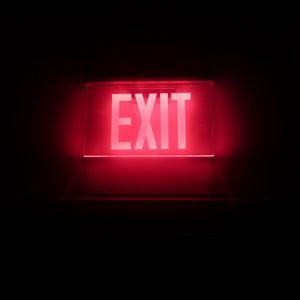 Preview wallpaper neon, backlight, inscription, exit