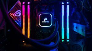 Preview wallpaper neon, glow, system