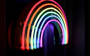Preview wallpaper neon, light, lamp, bright, lines
