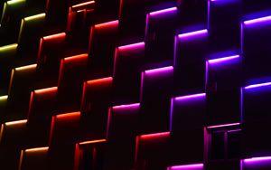 Preview wallpaper neon, lights, dark, forms