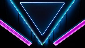 Preview wallpaper neon, shape, triangle