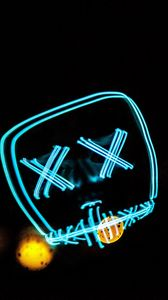 Preview wallpaper neon, smile, art, lines