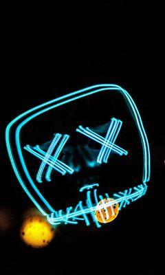 240x400 Wallpaper neon, smile, art, lines