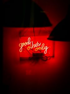 Preview wallpaper neon, text, signboard, red, light