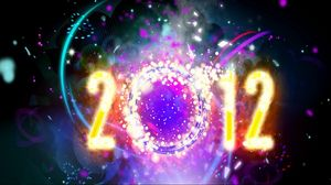Preview wallpaper new year, christmas, figures, 2012, date