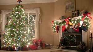 Preview wallpaper new year, christmas tree, decorations
