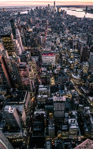 Preview wallpaper new york, usa, city, top view