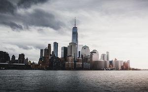 Preview wallpaper new york, usa, skyscrapers, panorama