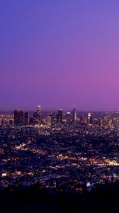 Preview wallpaper night city, city lights, night, los angeles, united states