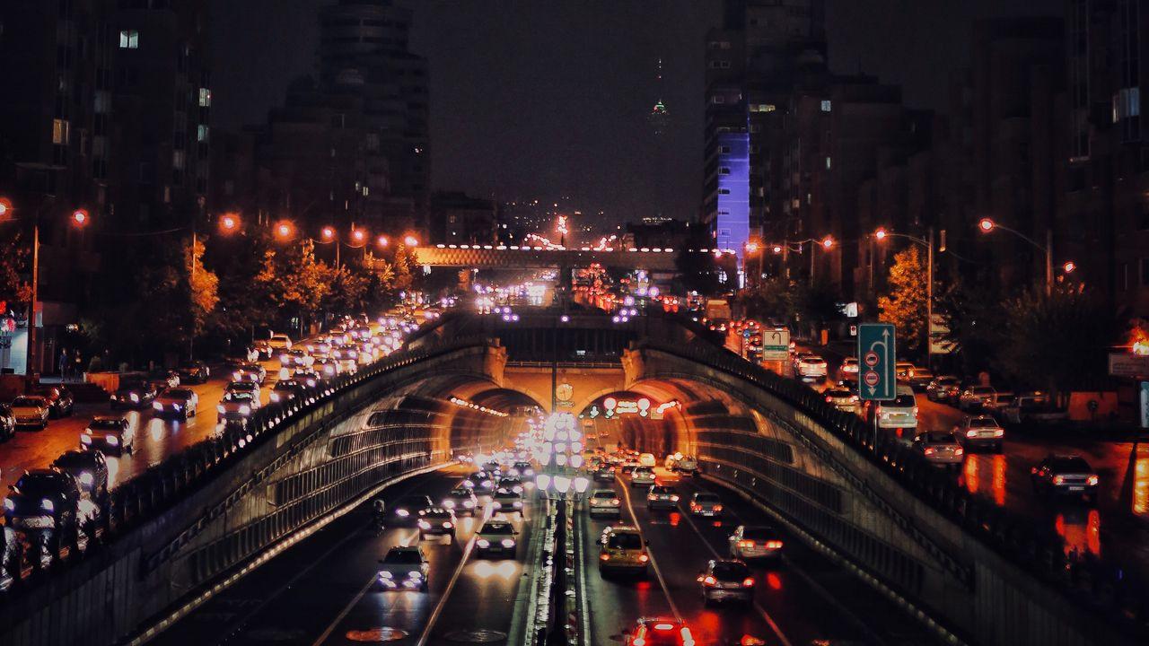 【壁纸桌面】城市、道路、汽车、灯光高清壁纸免费下载