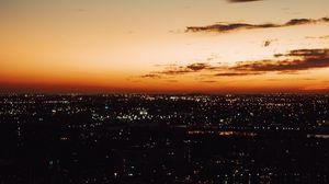 Preview wallpaper night city, skyline, city lights, night sky, night landscape