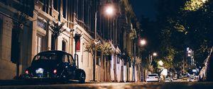 Preview wallpaper night city, street, car