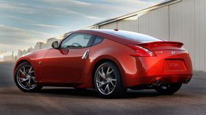 Preview wallpaper nissan, 350z, red, side view