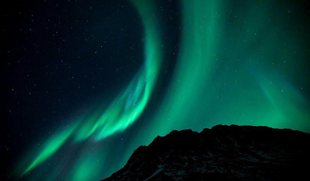 1024x600 Wallpaper northern lights, night, night sky, phenomenon