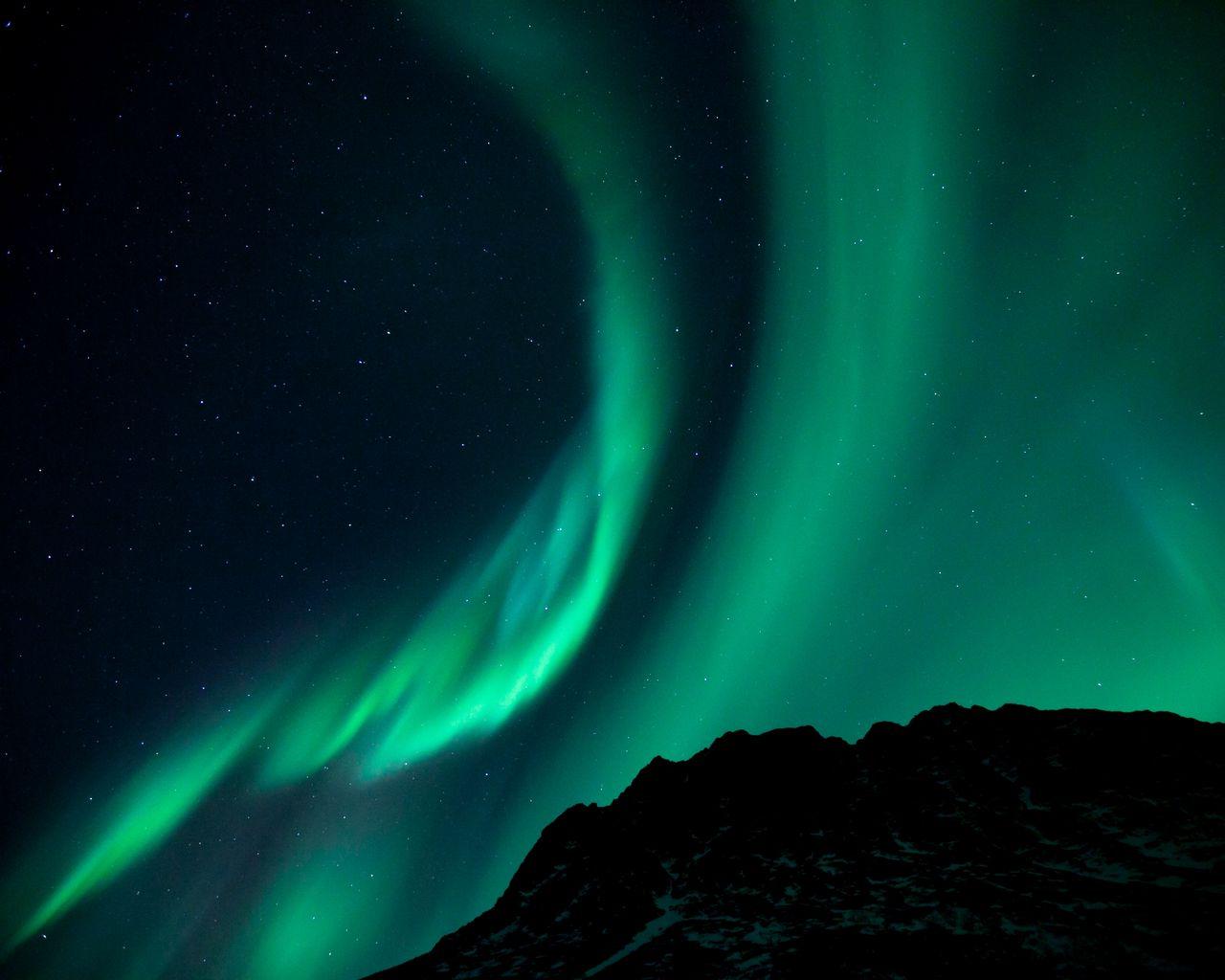 1280x1024 Wallpaper northern lights, night, night sky, phenomenon