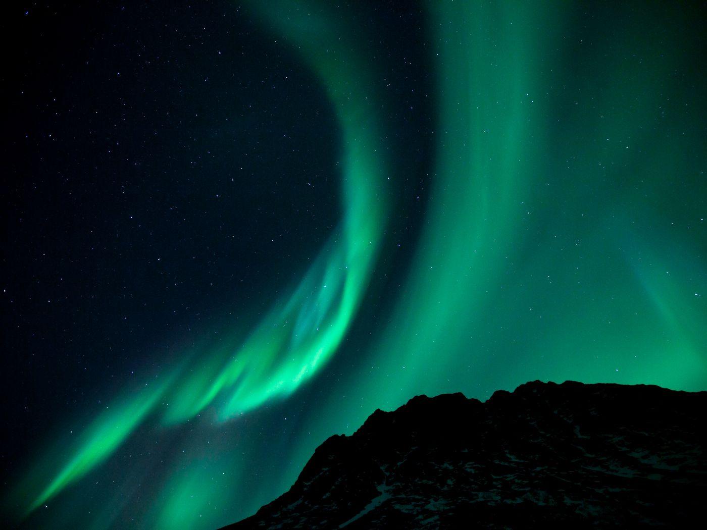 1400x1050 Wallpaper northern lights, night, night sky, phenomenon