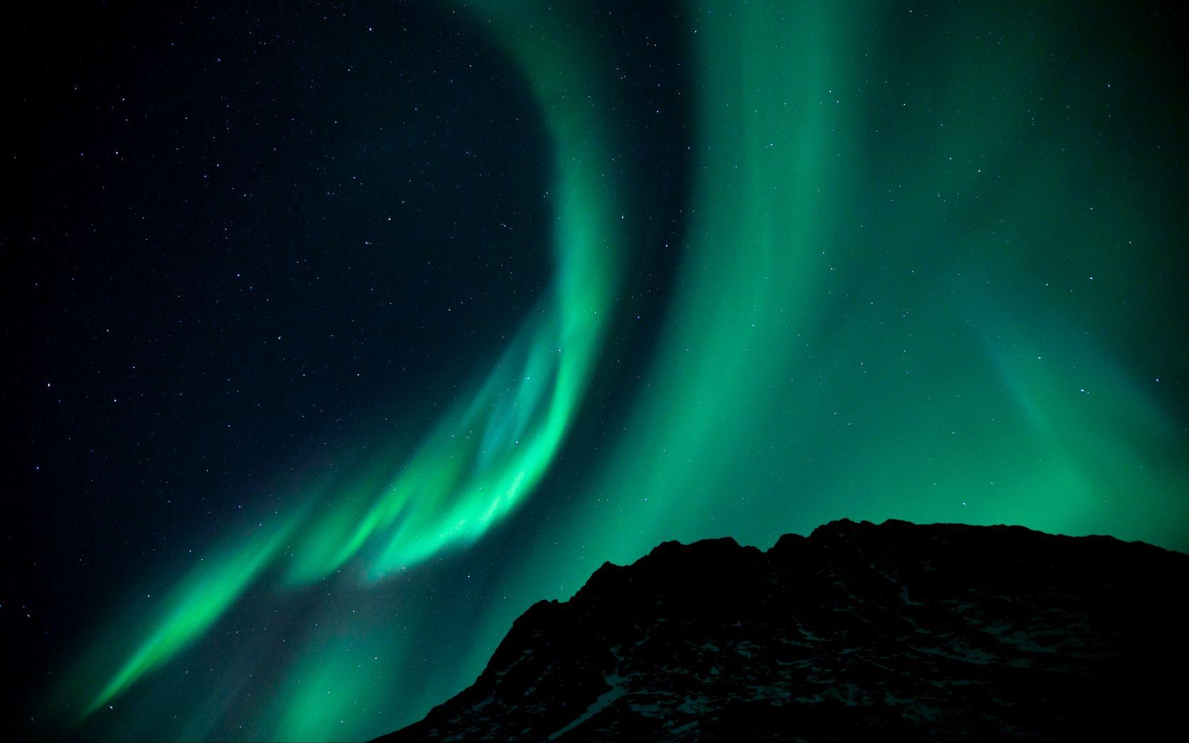 1680x1050 Wallpaper northern lights, night, night sky, phenomenon