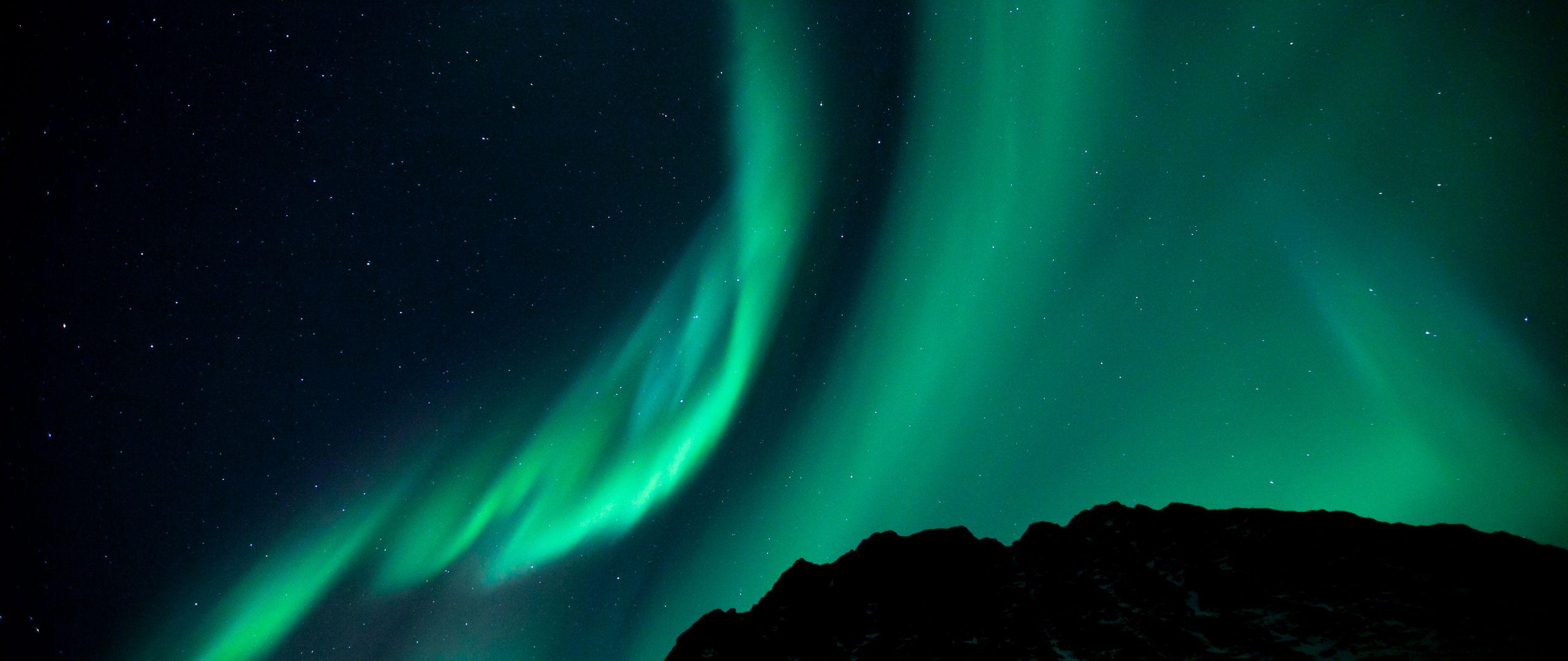 2560x1080 Wallpaper northern lights, night, night sky, phenomenon