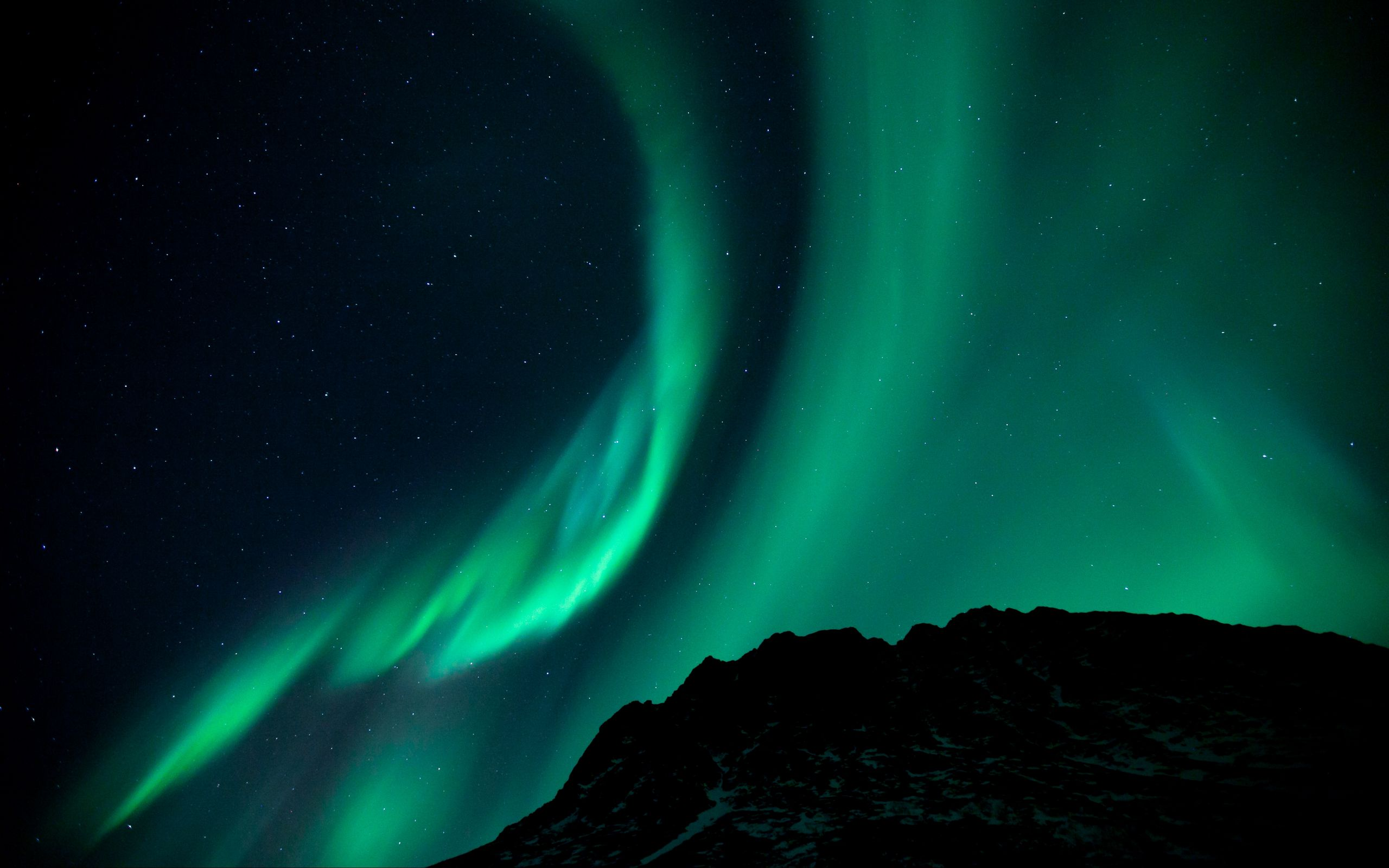 2560x1600 Wallpaper northern lights, night, night sky, phenomenon