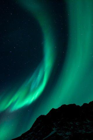 320x480 Wallpaper northern lights, night, night sky, phenomenon