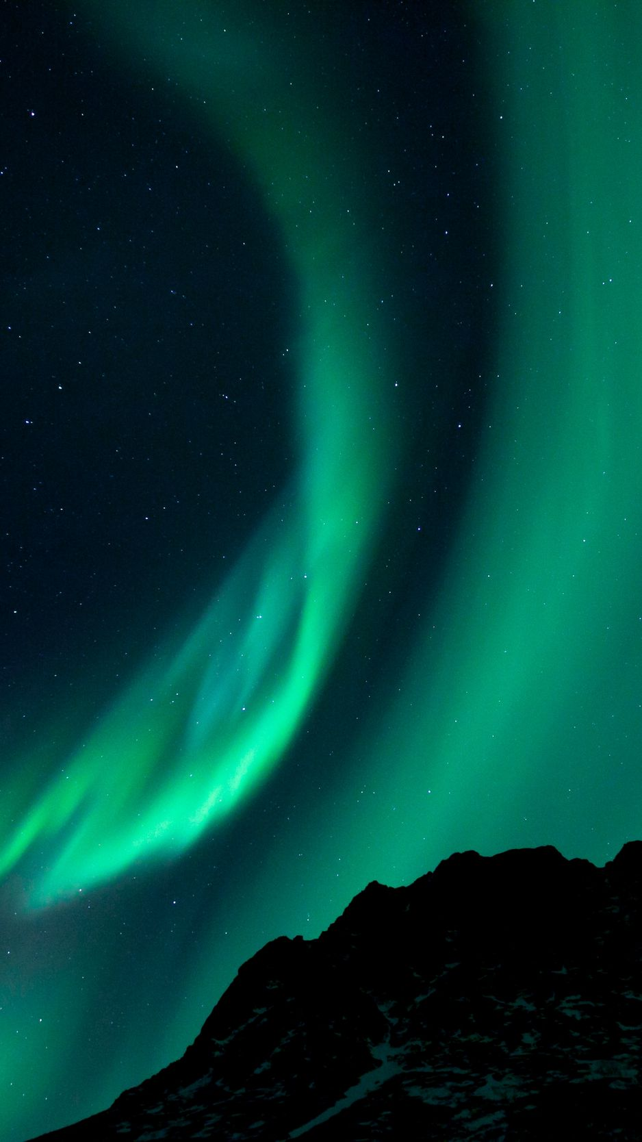 938x1668 Wallpaper northern lights, night, night sky, phenomenon