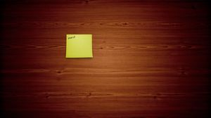 Preview wallpaper note, board, background, minimalism, piece of wood