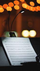 Preview wallpaper notes, music, light, glare, bokeh