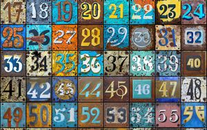 Preview wallpaper numbers, texture, rust, colorful