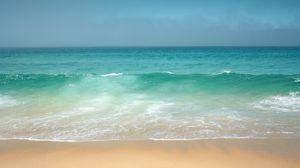 Preview wallpaper ocean, coast, horizon, waves